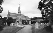 Llanbedr Dyffryn Clwyd, St Peter's Church c1955