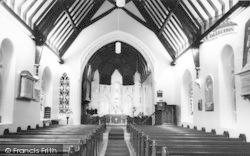 Interior Of St Peter's Church c.1960, Llanbedr