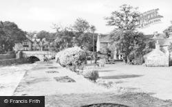River Artro And Victoria Hotel c.1950, Llanbedr