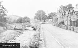 The Bridge And Riverside c.1955, Llanbedr