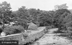 The River Artro And Tea Gardens c.1955, Llanbedr