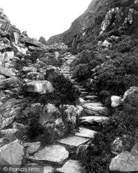 Llanbedr, The Roman Steps c.1863