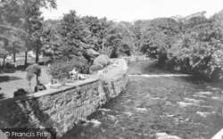 Victoria Gardens And River c.1955, Llanbedr