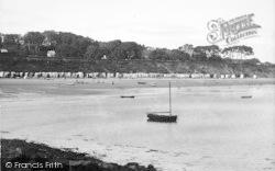 Llanbedrog, General View Of The Beach c.1936