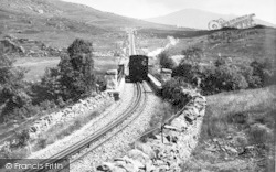 Llanberis, Snowdon Mountain Railway From Below Chapel Station c.1960