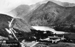The Lake Castle And Snowdon c.1910, Llanberis