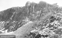 Llanberis, The Pinnacles Of Crib Goch And Cwm Glas c.1960