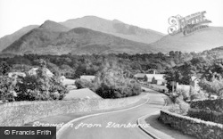 Llanberis, View Towards Snowdon c.1955