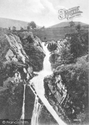 Llanberis, Waterfall c.1935