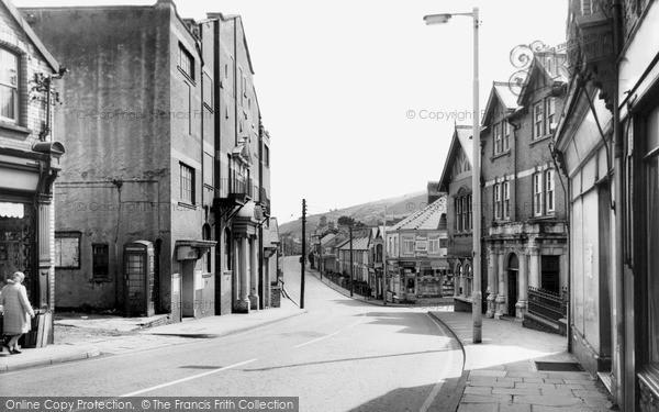Photo of Llanbradach, Main Street c.1955