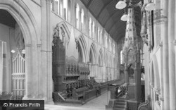 Llandaff, Cathedral Nave, Looking West c.1939