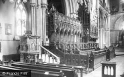 Llandaff, Cathedral, Pulpit And Choir Stalls c.1933