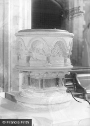 Llandaff, Cathedral, The Font c.1933