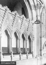 Llandaff, Cathedral, The Sedilia And St Teilo's Tomb c.1956