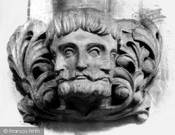 Llandaff, Cathedral, The Three Faces And Four Eyes c.1933
