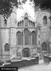 Llandaff, Cathedral, West Entrance c.1933