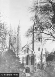 Llandaff, Cathedral, West Front c.1956