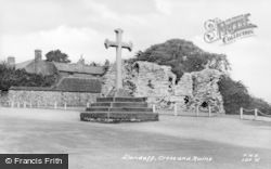 Llandaff, Cross And Ruins c.1955