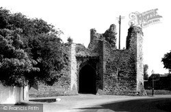 Llandaff, The Castle Ruins c.1955