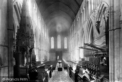 Llandaff, The Cathedral, The Nave Looking West 1893