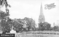 Llandaff, War Memorial And Cathedral c.1933
