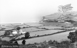 Llanddona, Lower Village And Beach c.1950
