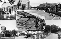 Llanddulas, Rendezvous Caravan Site Composite c.1955
