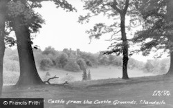 Llandeilo, Dinefwr Castle From The Castle Grounds c.1960