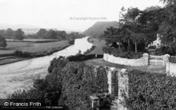 Llandeilo, River Towy From The Bridge c.1955