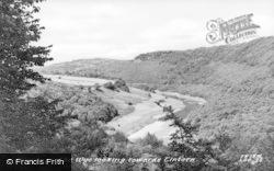 Llandogo, The Wye Looking Towards Tintern c.1955