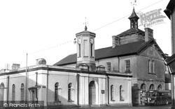 Market Hall And Town Clock c.1955, Llandovery