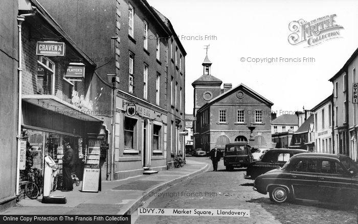 Photo of Llandovery, Market Square c.1955