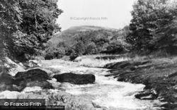 Llandovery, River Towy c.1960