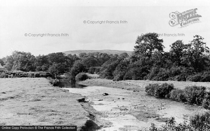 Photo of Llandovery, The River c.1955