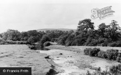 Llandovery, The River c.1955