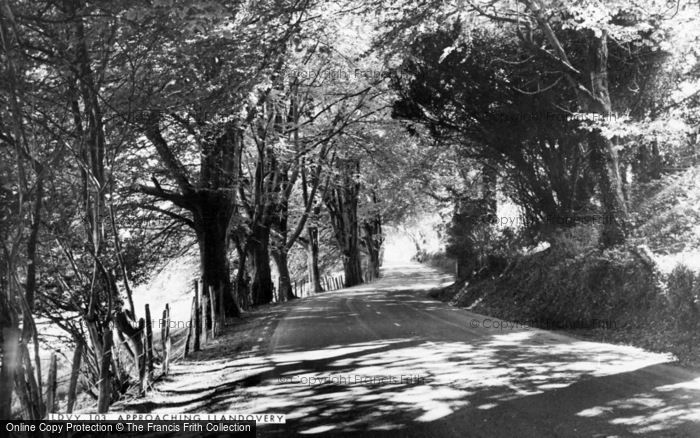 Photo of Llandovery, Town Approach c.1960