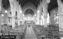 Llandrindod Wells, Holy Trinity Church, Interior 1958