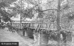 Llandrindod Wells, Rock Park, Rustic Bridge c.1949