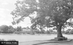 Llandrindod Wells, The Lake c.1950