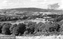 Llandrindod Wells, The Lake From The Golf Links c.1958