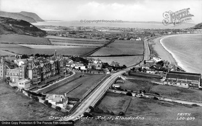 Photo of Llandudno, Cragside Hydro Hotel c.1955