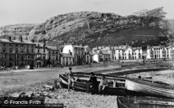 Great Orme's Head And Parade From The Beach c.1875, Llandudno