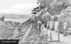 Llandudno, Haulfre Gardens Looking To West Shore c.1946