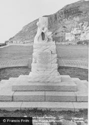 Llandudno, Lewis Carroll Memorial And Gogarth Abbey Hotel c.1955