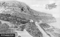 Llandudno, Marine Drive From Happy Valley c.1935