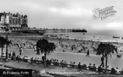 Llandudno, Pier And Promenade c.1946
