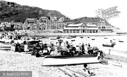 Llandudno, Sands And Pier 1890