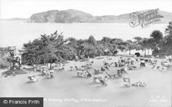 Llandudno, The Bay From Happy Valley c.1955