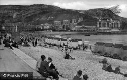 Llandudno, The Beach And Pavilion c.1946