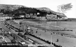 Llandudno, The Beach And Promenade c.1960